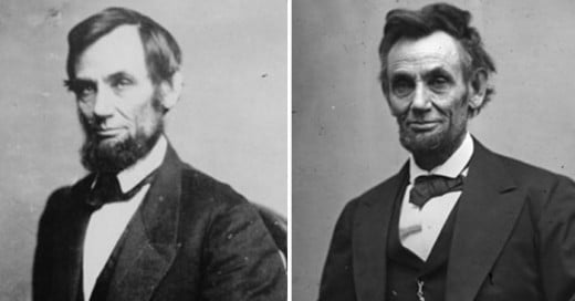 fotografías de 10 presidentes de Estados Unidos que los muestra antes y después de su mandato
