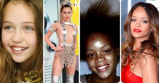 Sorprendente cambio de las estrellas pop