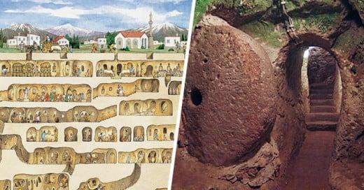 encuentran ciudad subterranea del siglo XII