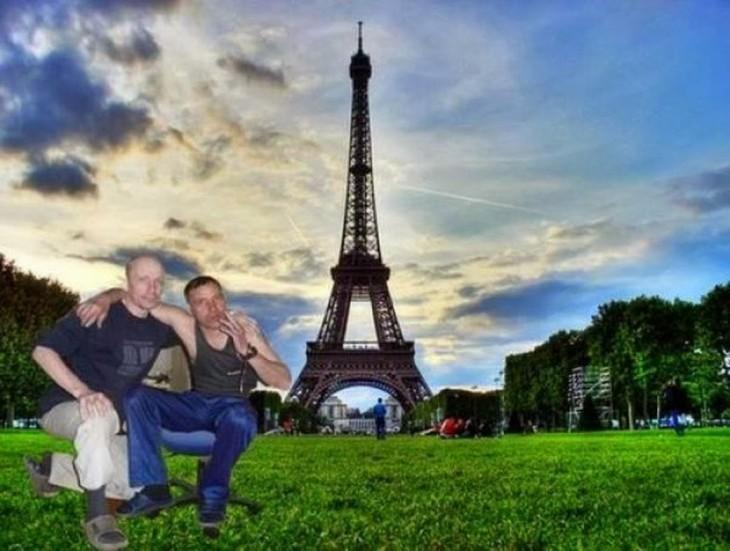 en su ultimo viaje a paris estos amigos se tomaron esta foto