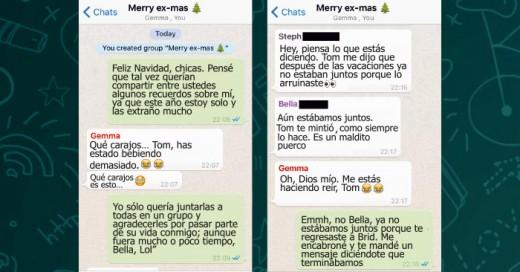 Hombre agrego a sus exnovias a un grupo de Whatsapp, solo para desearles una Feliz Navidad