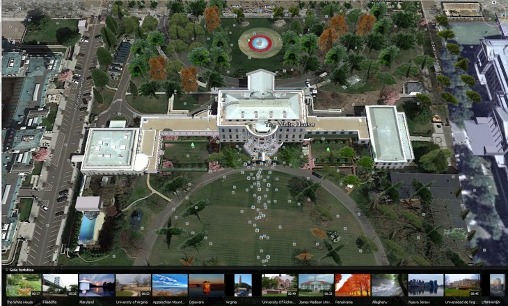 LA CASA BLANCA VISTA DESDE GOOGLE EARTH