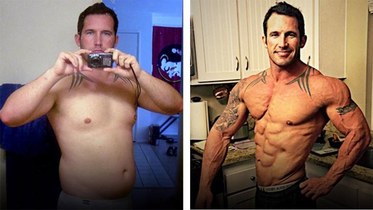 Jason Tucke es un oficial naval que llevaba una vida desordenada en cuanto a sus hábitos alimenticios, sin embargo, logró bajar 20 kilos de grasa para convertirlos en músculo con esfuerzo y concentración