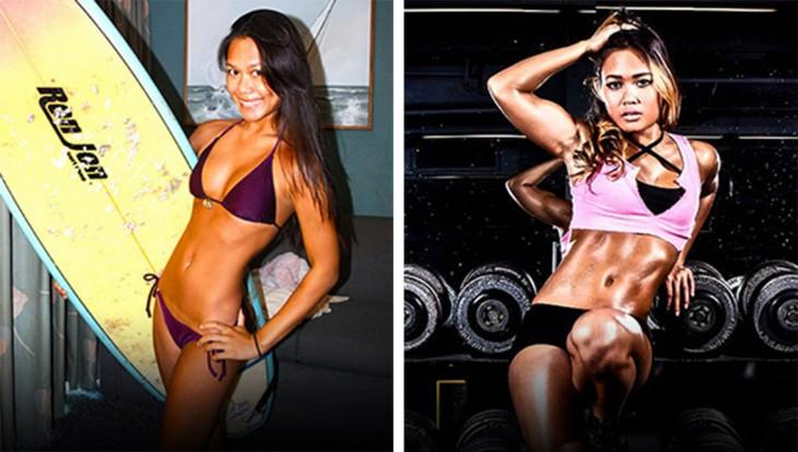 Christin Rossano, logró aumentar de peso. Ella encontró el apoyo en su familia y entrenador