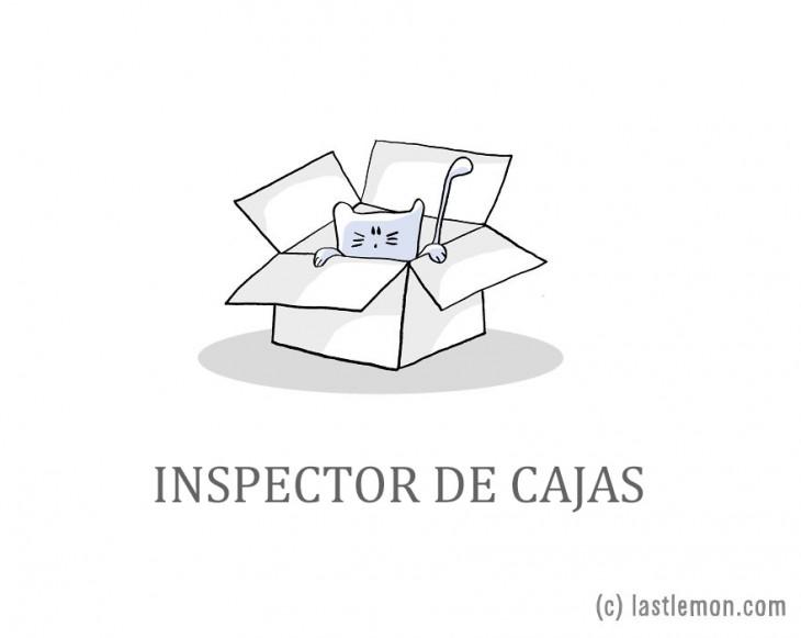 ilustración de un gato saliendo de una caja de cartón