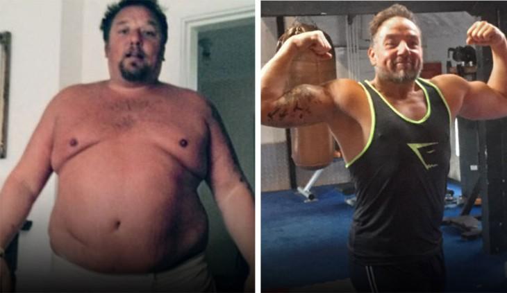 Pete logró bajar 68 kilos en solo 3 años