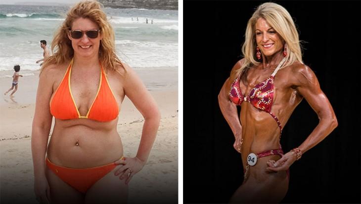 Samantha logró bajar poco más de 18 kilos en 10 meses con el plan de ejercicios de Arnold Schwarzenegger