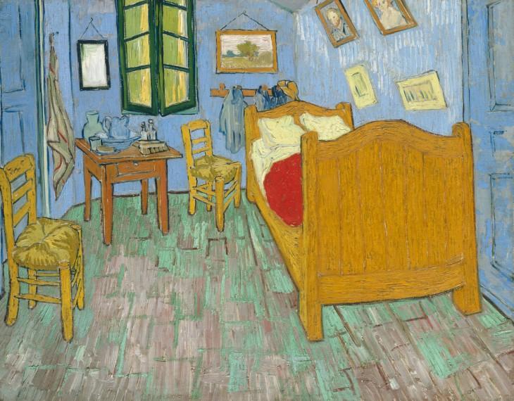 """Pintura """"La habitación"""" del famoso pintor Vicent Van Gogh"""