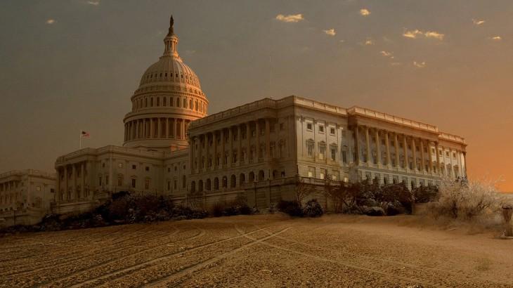 Así luciría el Capitolio de los Estados Unidos ante una sequía extrema
