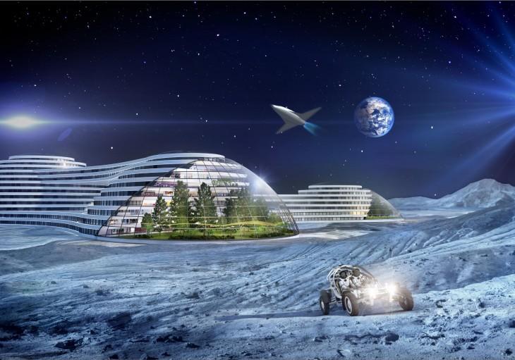 Imagen del informe de Samsung en donde se cree que dentro de 100 años habrá viajes comerciales a la Luna y a Marte