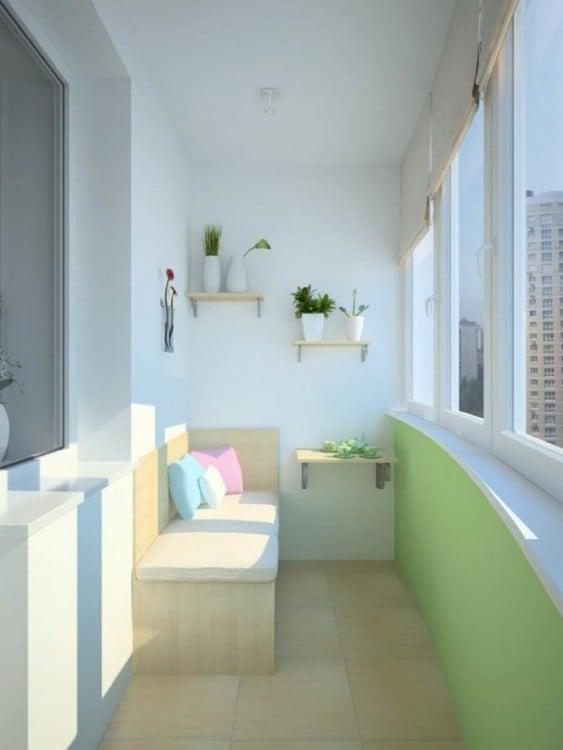balcón de interior con colores pastel