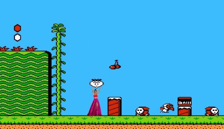 photoshop de Taylor Swift en el juego de Mario Bross