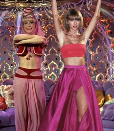 Batalla de photoshop a Taylor Swift en una escena junto a mi bella genio