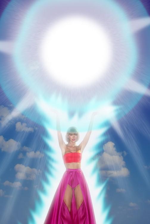 Taylor Swift haciendo una genkidama