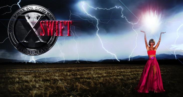 Photoshop de Taylor Swift como un personaje de los X men