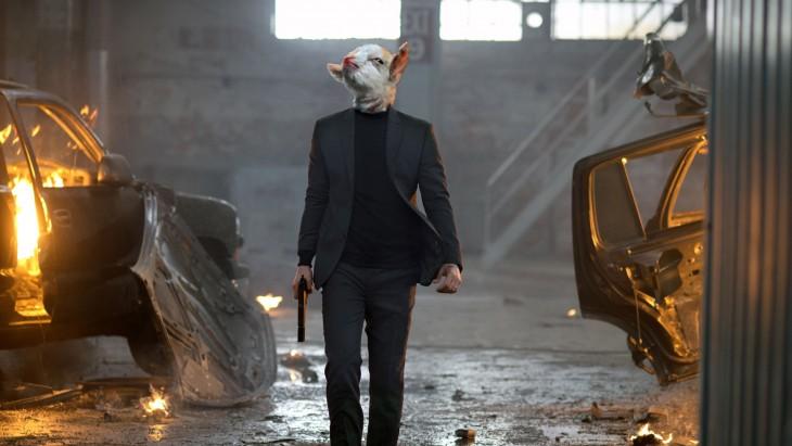 escena de un personaje de John Wick con la cara de la cabra presumida