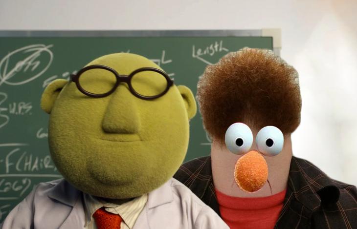 Batalla de photoshop al hombre de la barba de los personajes de Los Muppets