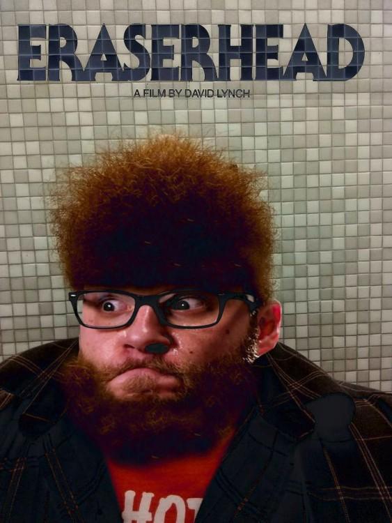 Batalla de photoshop al hombre de la barba con una cara de un hombre con lentes