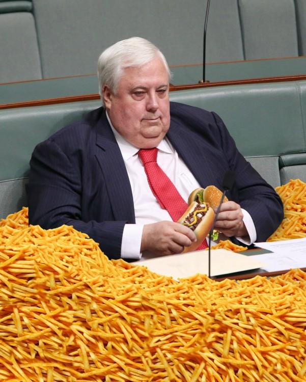 Batalla de photoshop al político contando dinero (3)