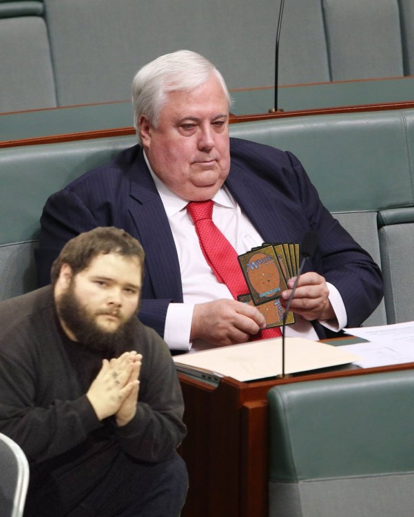 reddit photoshopea la foto del político australiano Clive Palmer