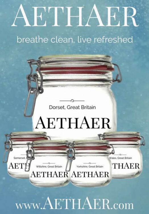 Aethaer frascos de aire fresco embotellado