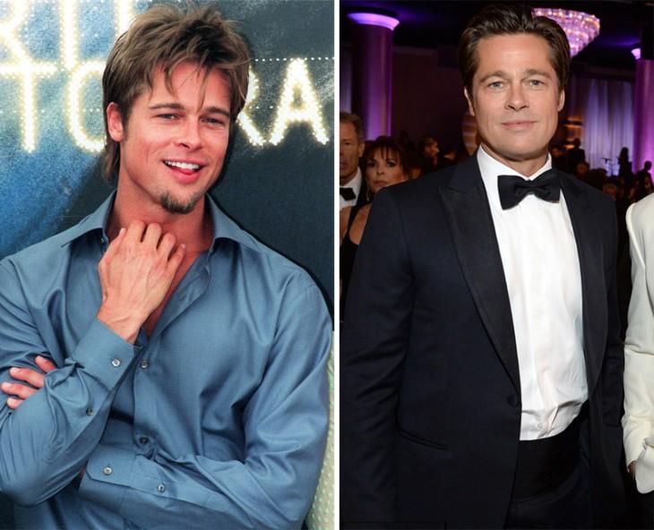 Fotografías del antes y después de Brad Pitt