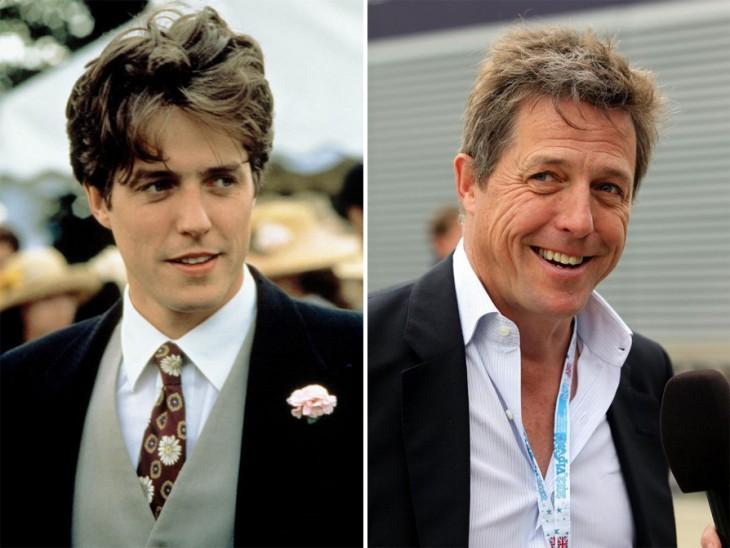 imagen que compara cómo ha cambiado el actor Hugh Grant