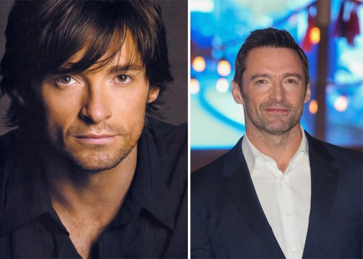 fotografía comparación del antes y después de Hugh Jackman
