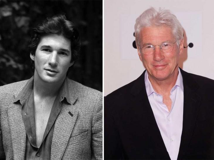 foto del antes y después de Richard Gere