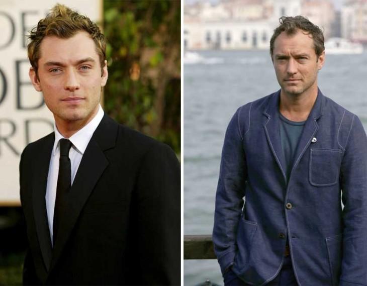 Imagen del antes y después de Jude Law