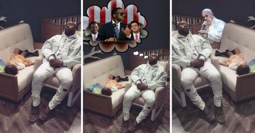 Kanye West se queda dormido en una tienda y los trollean