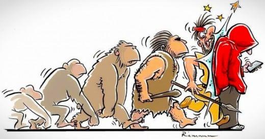 ilustraciones sobre la teoria de la evolución de Darwin
