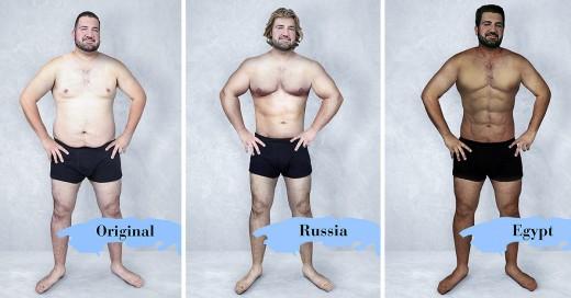 Así luce el cuerpo perfecto sugún su nacionalidad