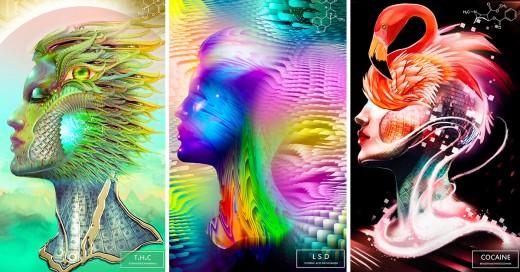 artista consume 20 drogas diferentes para poder hacer hermosas ilustraciones