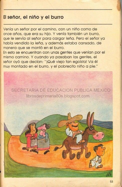 CUENTOS MEXICANOS. EL SEÑOR EL NIÑO Y EL BURRO, PRIMERA PARTE