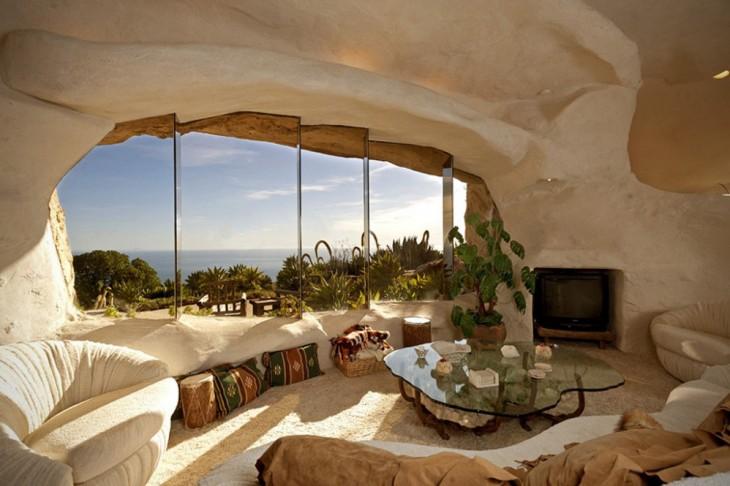 interior de la casa recreación de la de los picapiedra