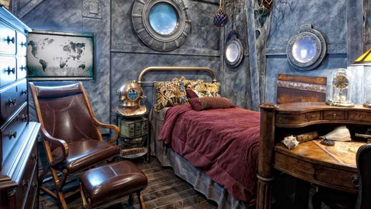 habitación con el diseño de 20,000 mil leguas de Viaje Submarino