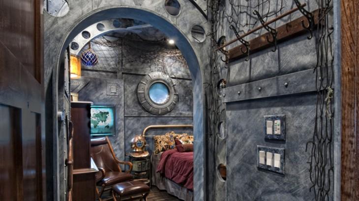 Habitación al estilo 20 mil leguas de viaje submarino
