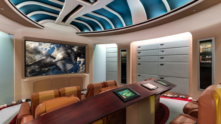 interior de una mansión al estilo Star Trek