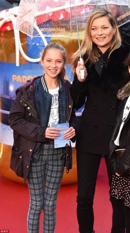 Lila Grace Moss con su hija Kate