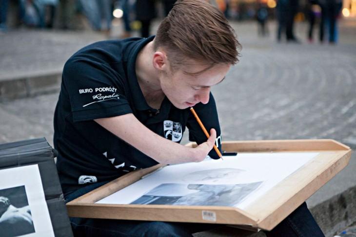Mariusz Kedzierski artista polaco de 23 años
