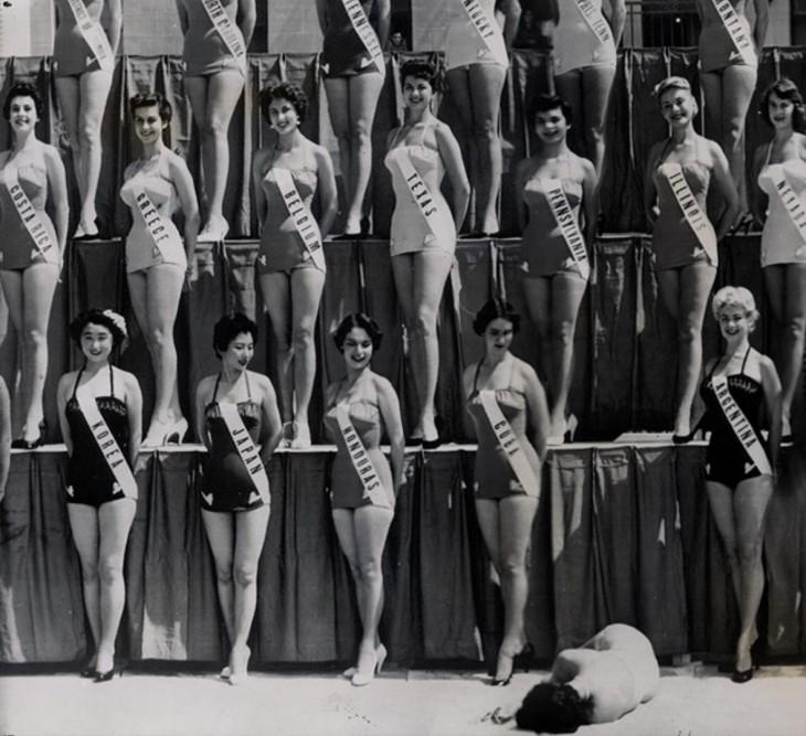 Miss Nueva Zelanda se desmaya en medio de concurso de Miss Universo en 1954