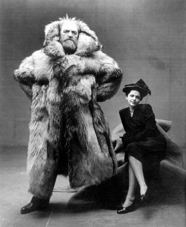 Explorador polar junto a su esposa