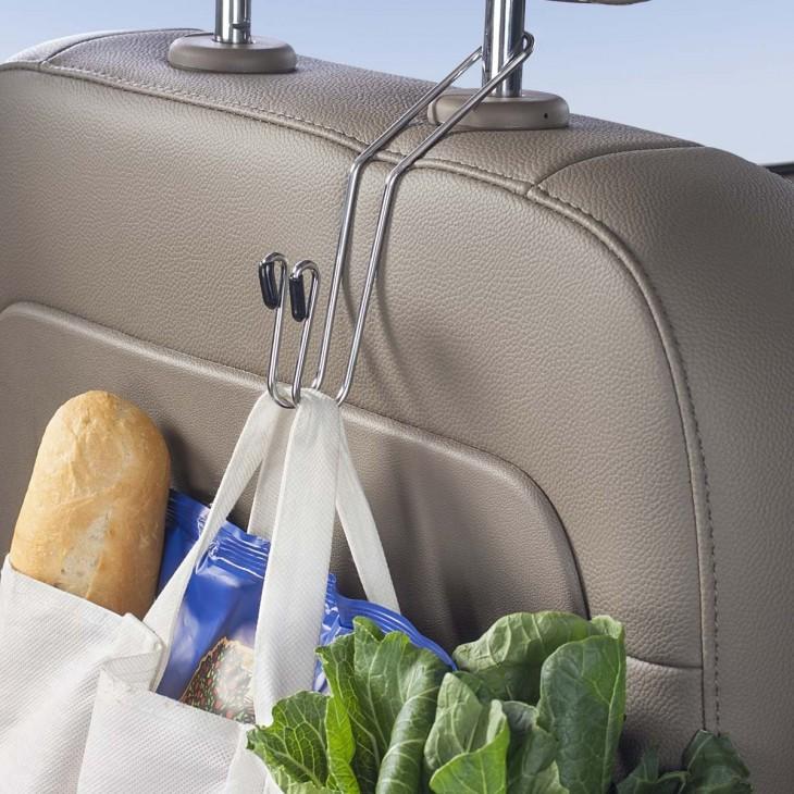 perchas para organizar cosas en tu coche