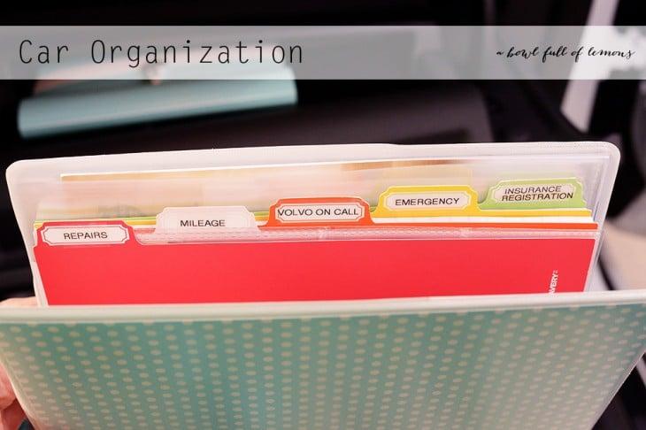 carpeta organizadora de papeles para tu coche