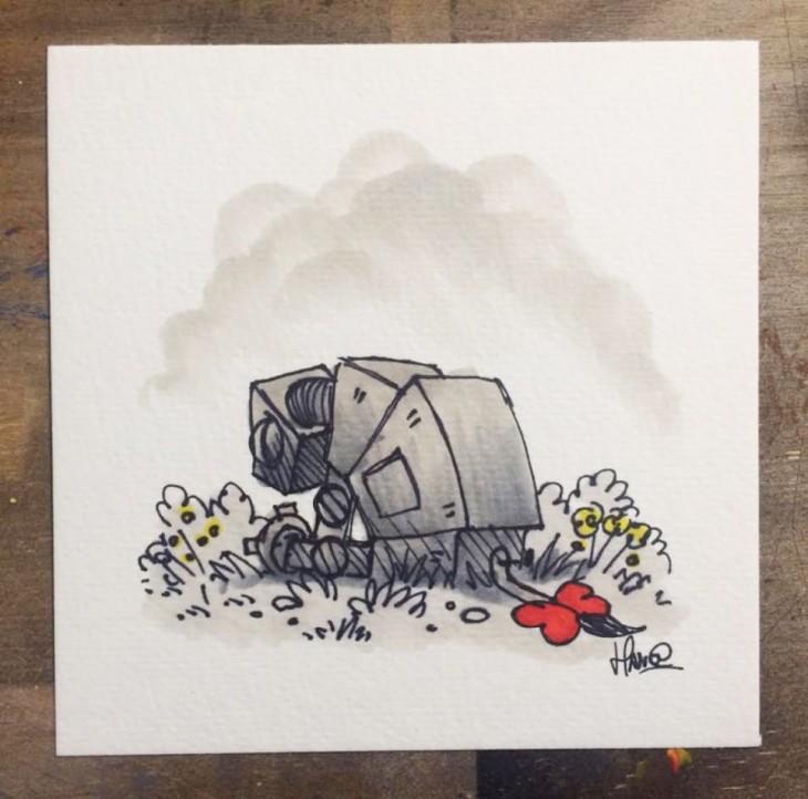 James Hance creo ilustraciónes de winnie pooh con las de star wars