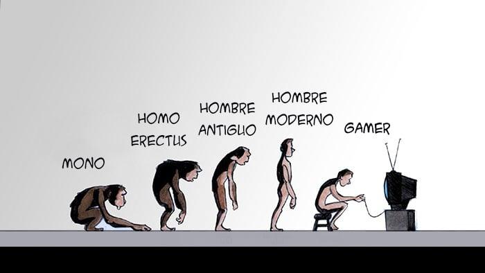 Ilustración muestra la evolución de los gamers