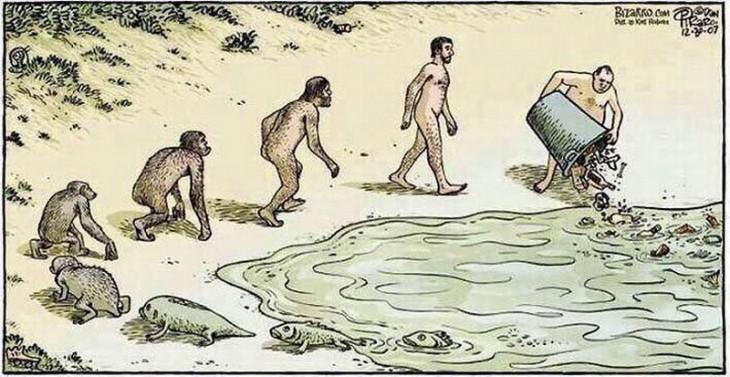 ilustración que muestra la evolución del ser humano