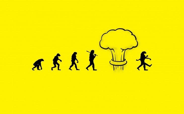 ilustración muestra la evolución nuclear