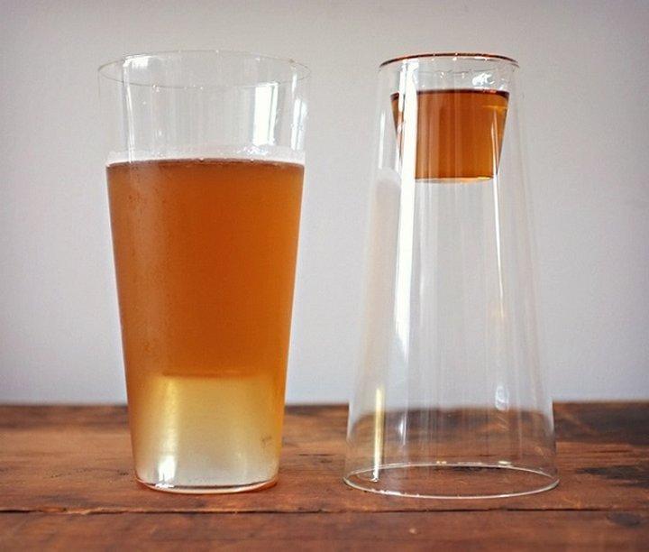 vaso dos en uno para shots y cerveza